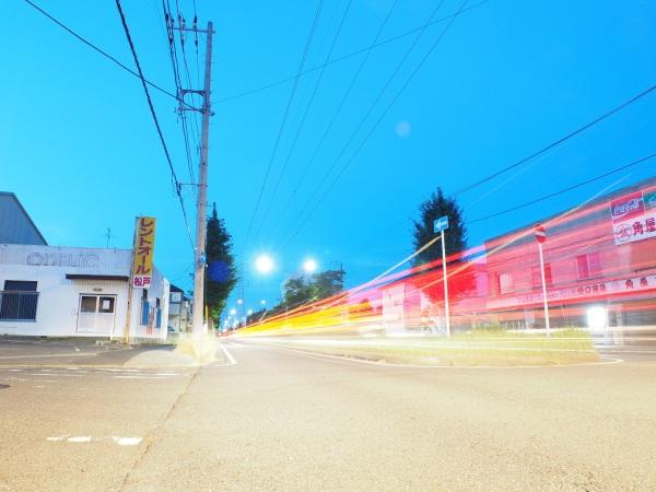 summer night road