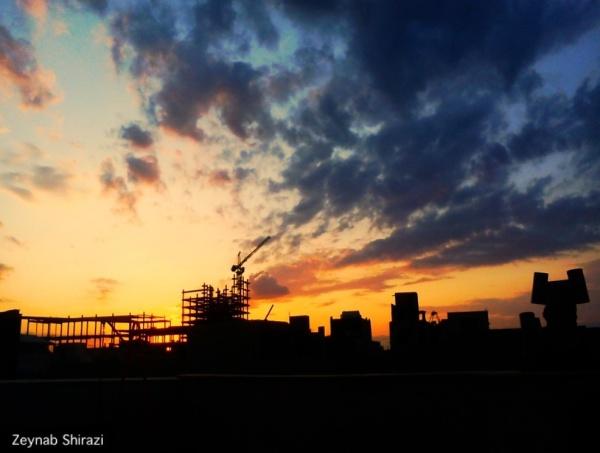 Sunset, city