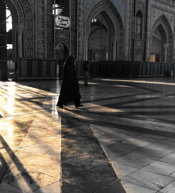 light shadow holyshrine woman