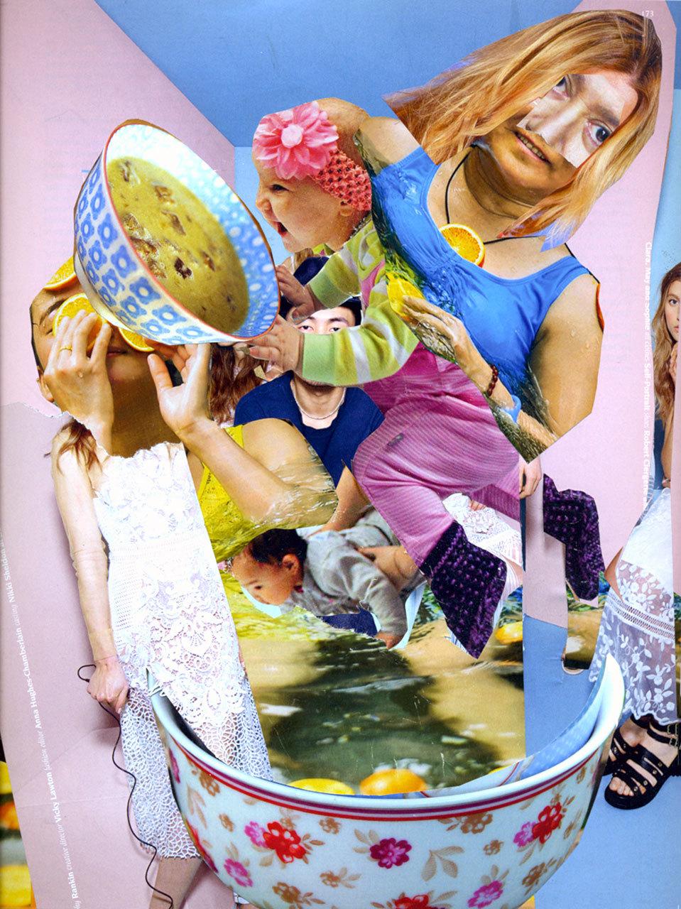 collage bowl cuisine