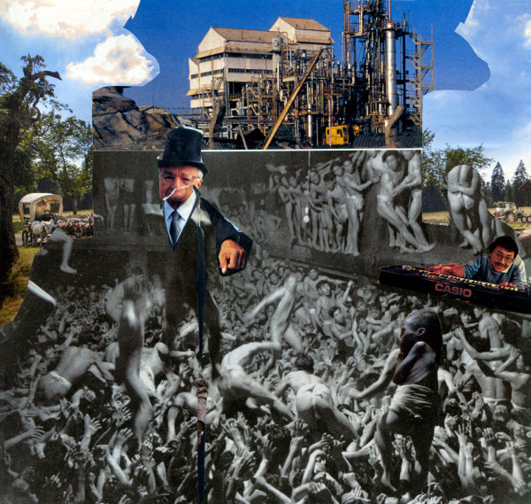 collage on exploitation