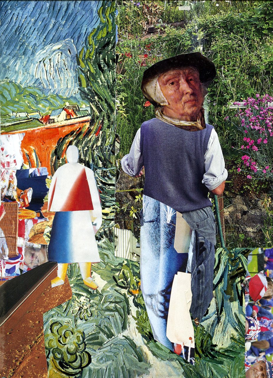 gardener in Van Gogh setting