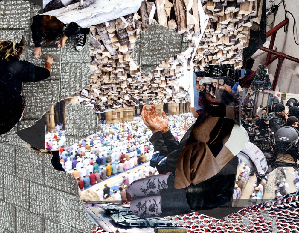 collage on the struggle about Jerusalem