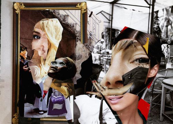 collage artist's studio