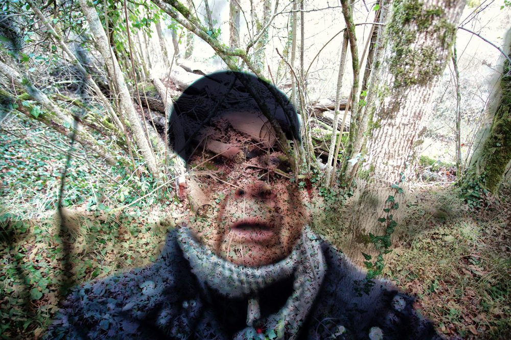 double exposure  selfie