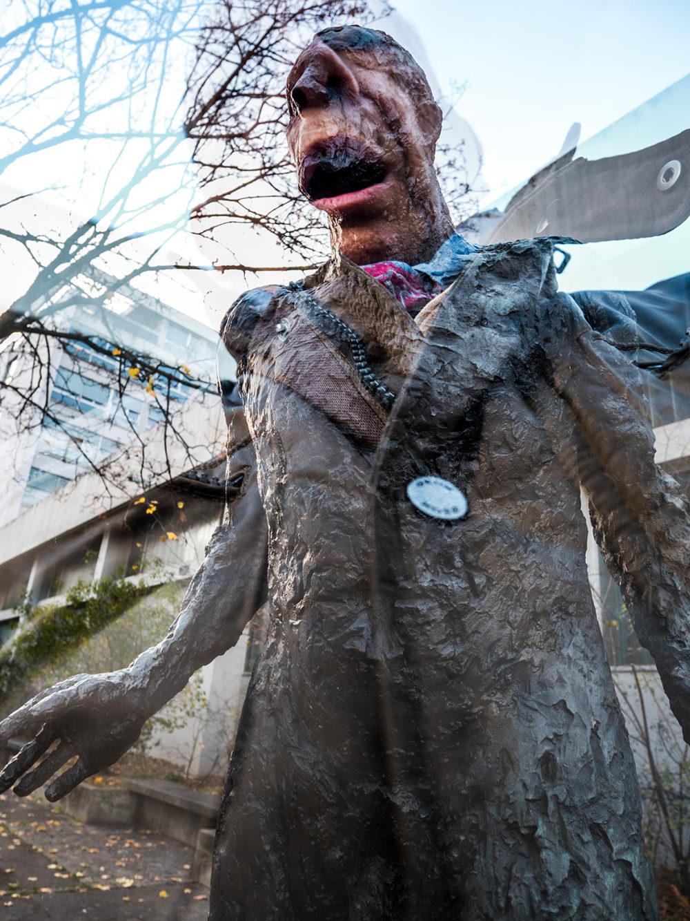 selfie en statue