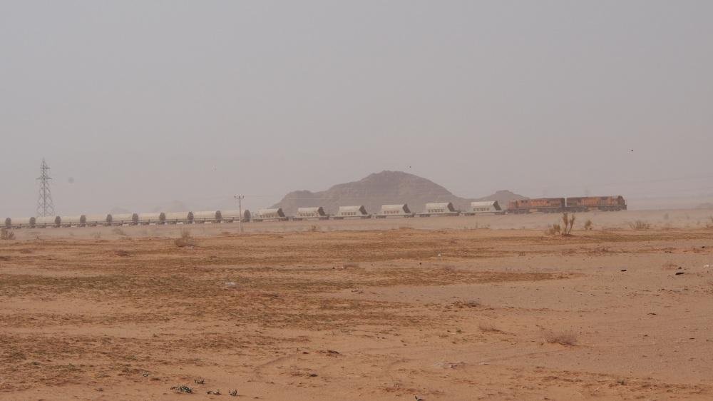 Vent de sable sur le convoi