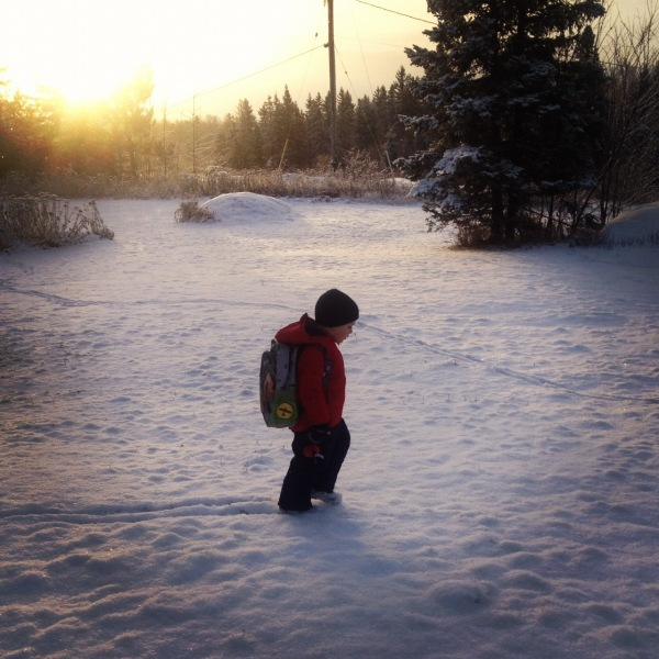 Trudging to school