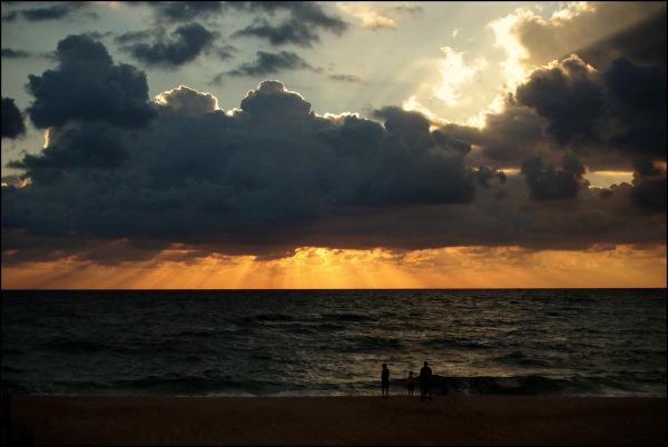 Sunset on the Atlantic Coast, France