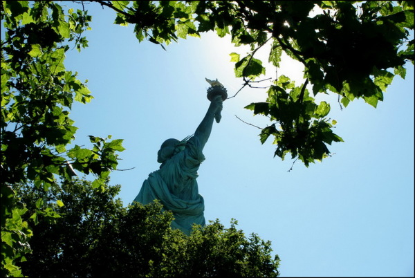 The Statue of Liberty from behind
