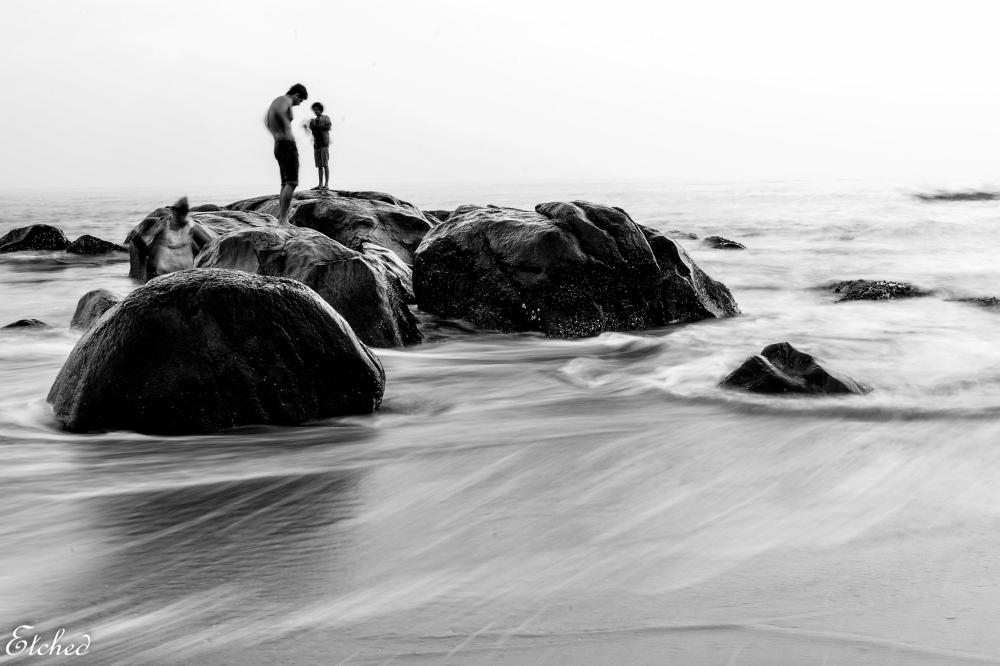Enjoying the gentle waves..