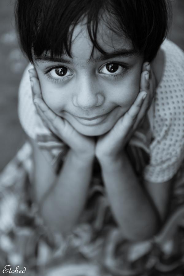 A delicate smile..