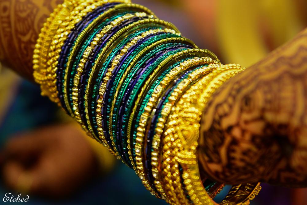 A color blast - Bride's bangles
