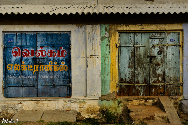 Textures and colors of rural India