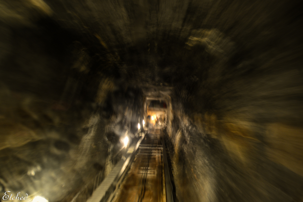 Into the caves..