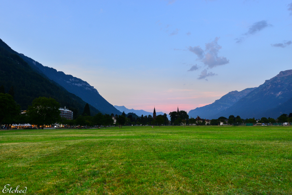 An evening at Interlaken