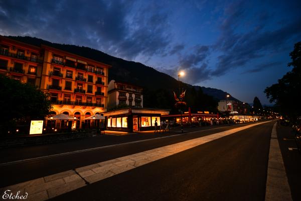 Amazing Interlaken during the evening..