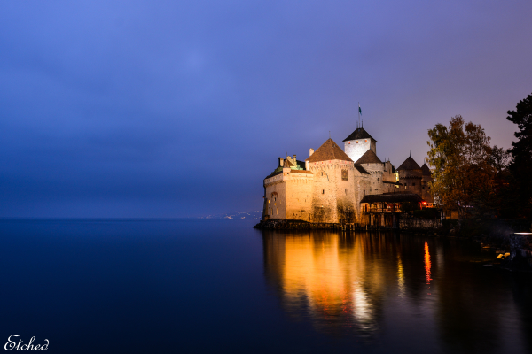 An evening at Chillon Castle, Montreux