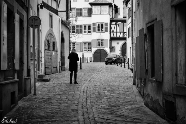 Alone, in the streets of Colmar