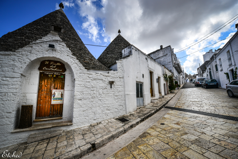 Beautiful streets of Alberobello