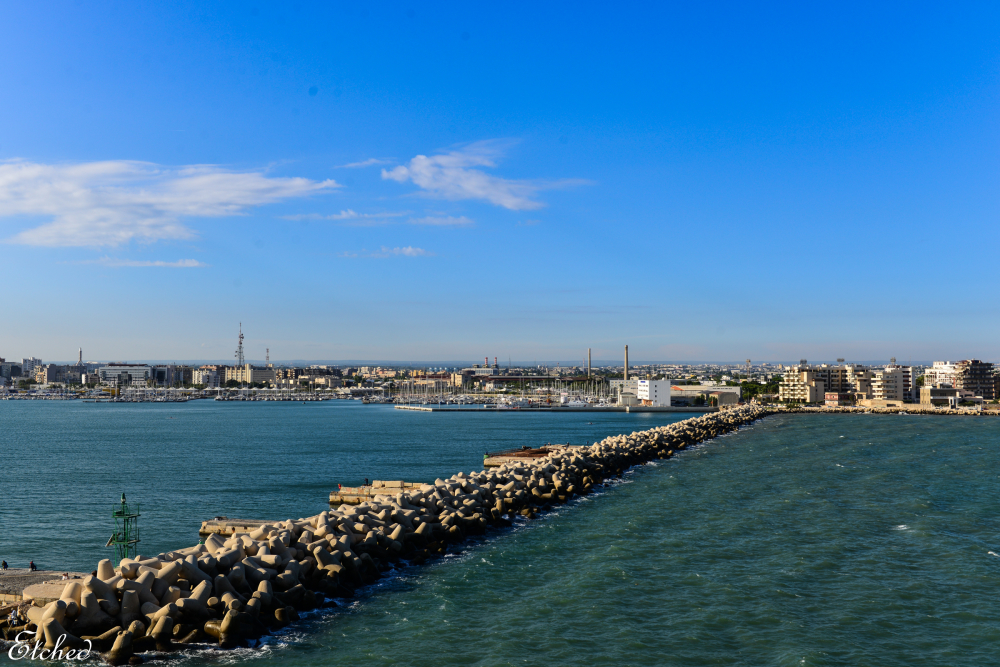 Another shoreline shot of Bari, Italy