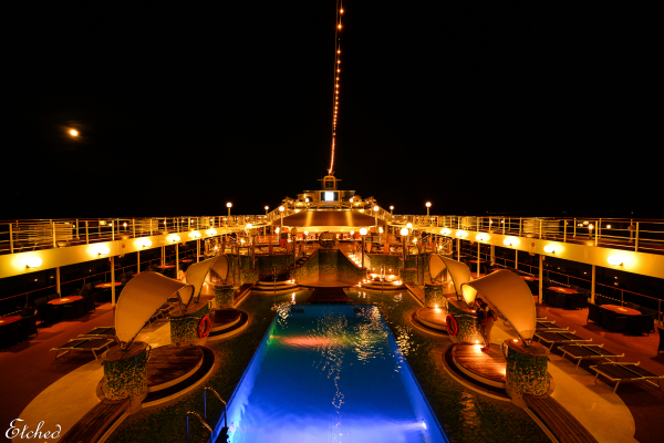 Glittering nights in the Cruise Ship