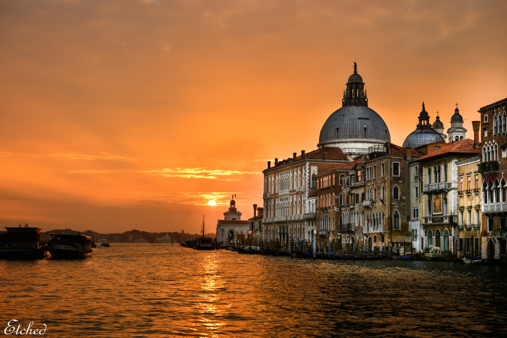 Glorious sunrise at Venice