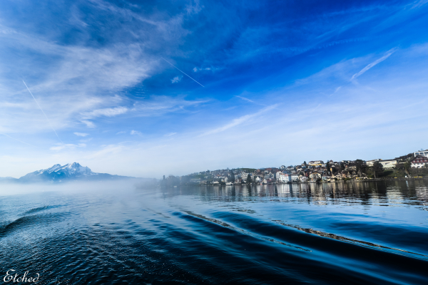 A misty morning at Lake Lucern