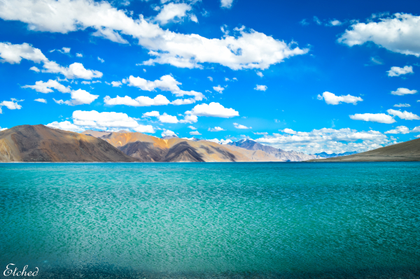 The Azure waters of Pangong