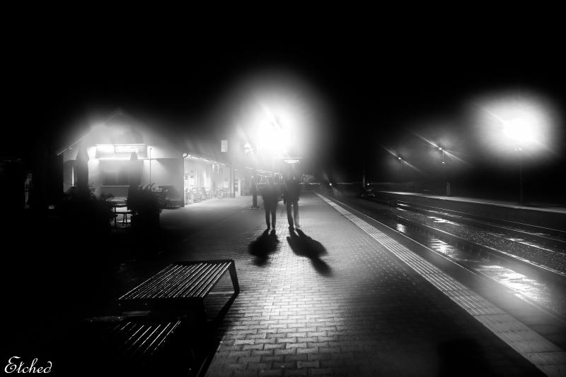 Walking along on a quiet, foggy night..