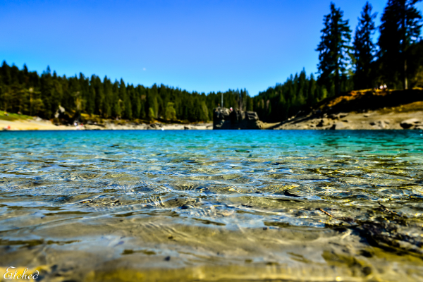 Pristine waters of Caumasee