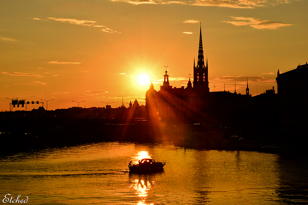 Powerful sunset at Stockholm