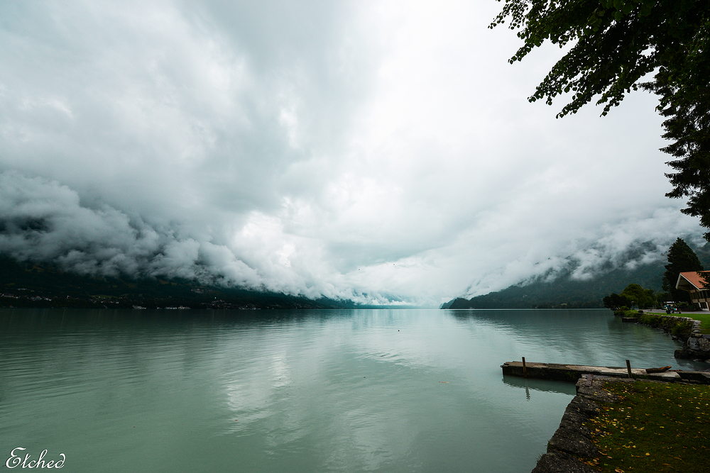 Azure waters of Lake Brienz Interlaken