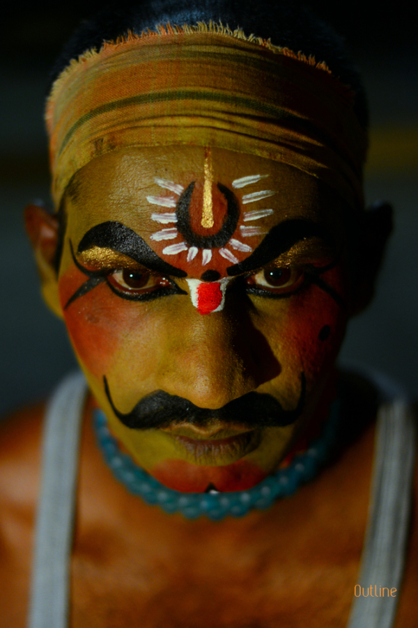 Preparing to play for Mahabharatha