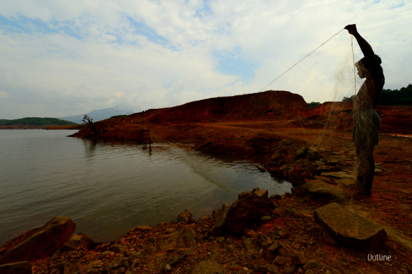 Fishing at Banasura