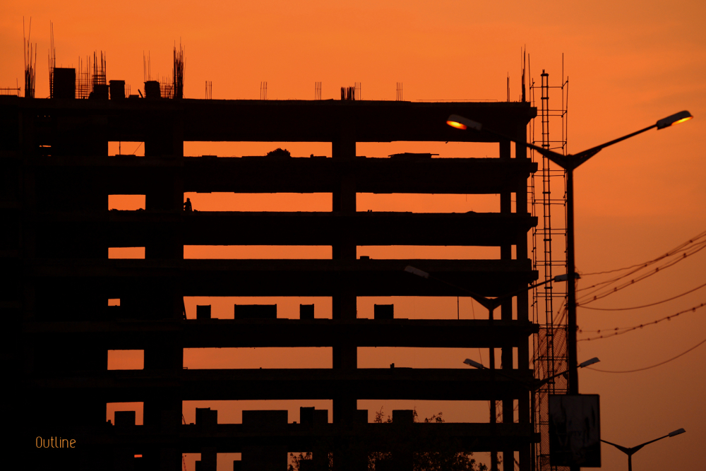 End of day for construction
