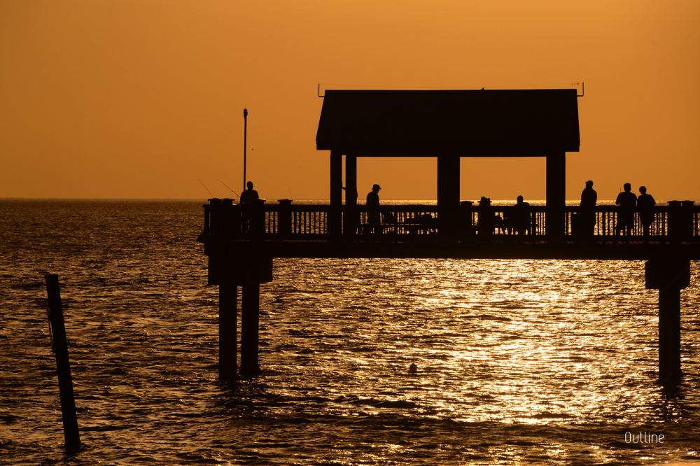 Fishing at the Sunset Pier