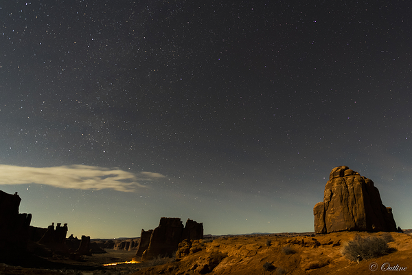 Night sky at Arches