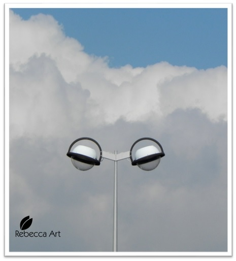 Clouds and Street Lights