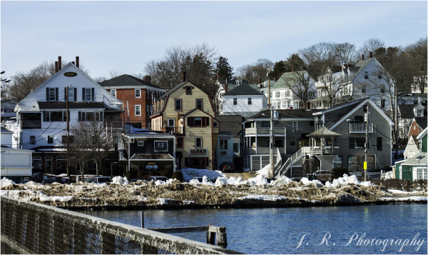 Vew of Boothbay Village from the Harbor