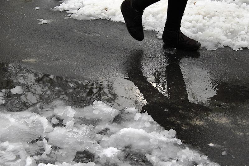 Walking In A Snowy Day