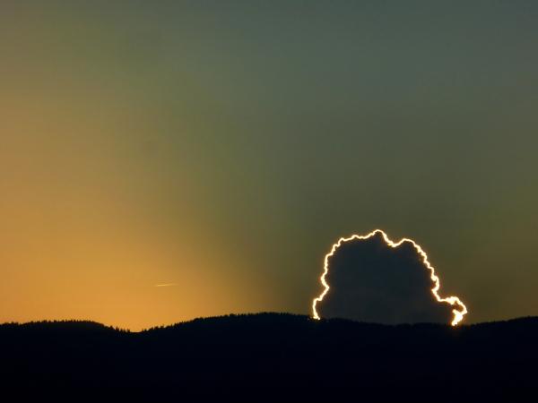 Glowing cloud
