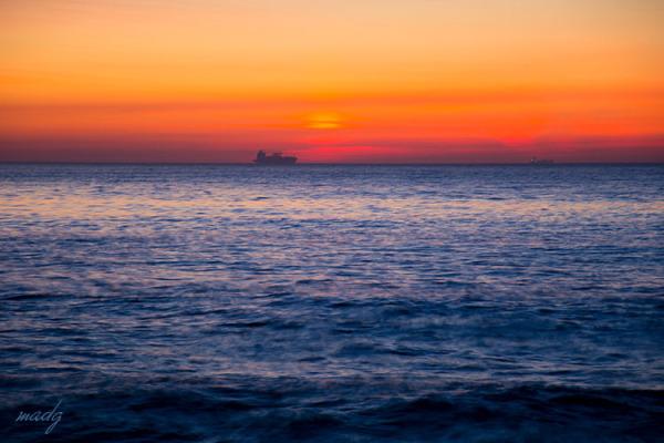 Mar vellutat en un capvespre d'hivern