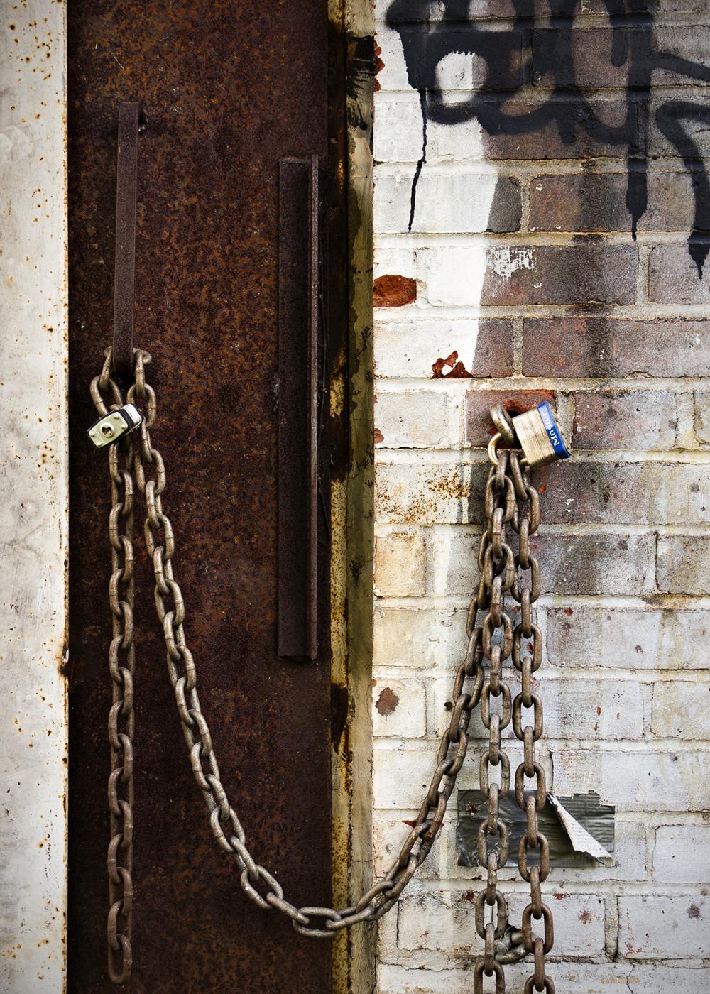 Chained door in Vermont