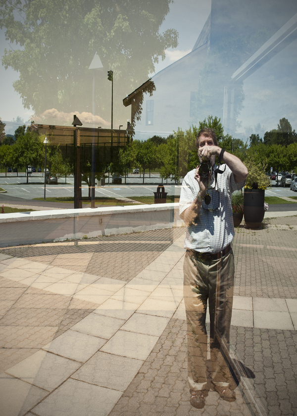 Distorted self portrait