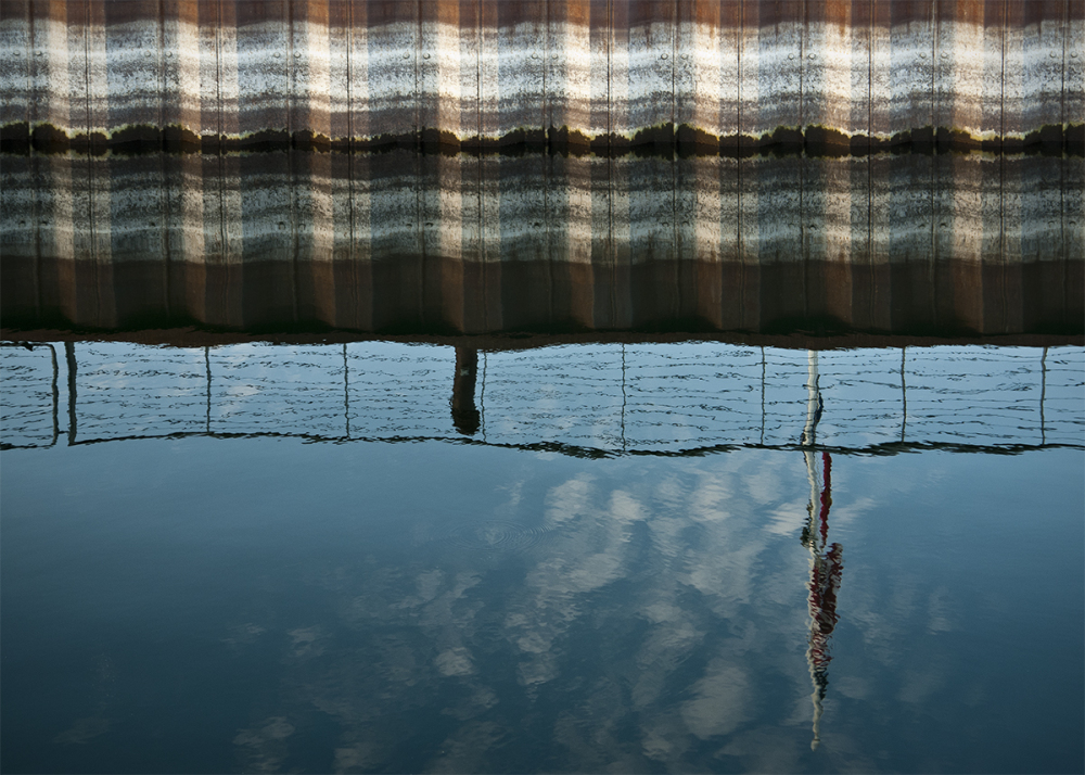 Reflection on Lake Champlain
