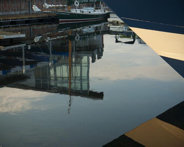 Burlington waterfront at 6:00 AM