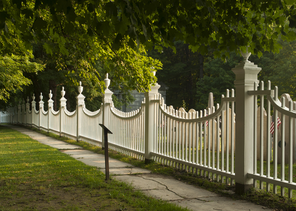 Picket fence in bennington, Vermont.