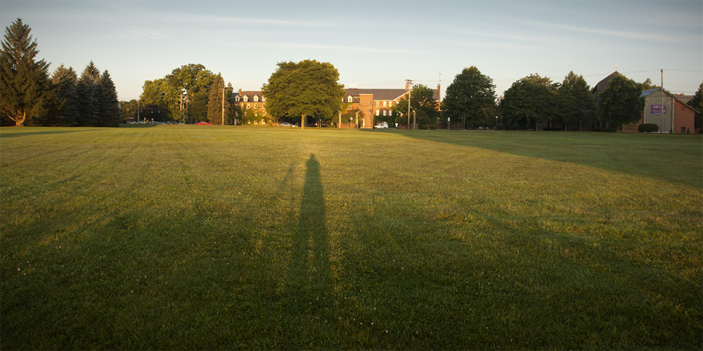 ON campus at sunrise