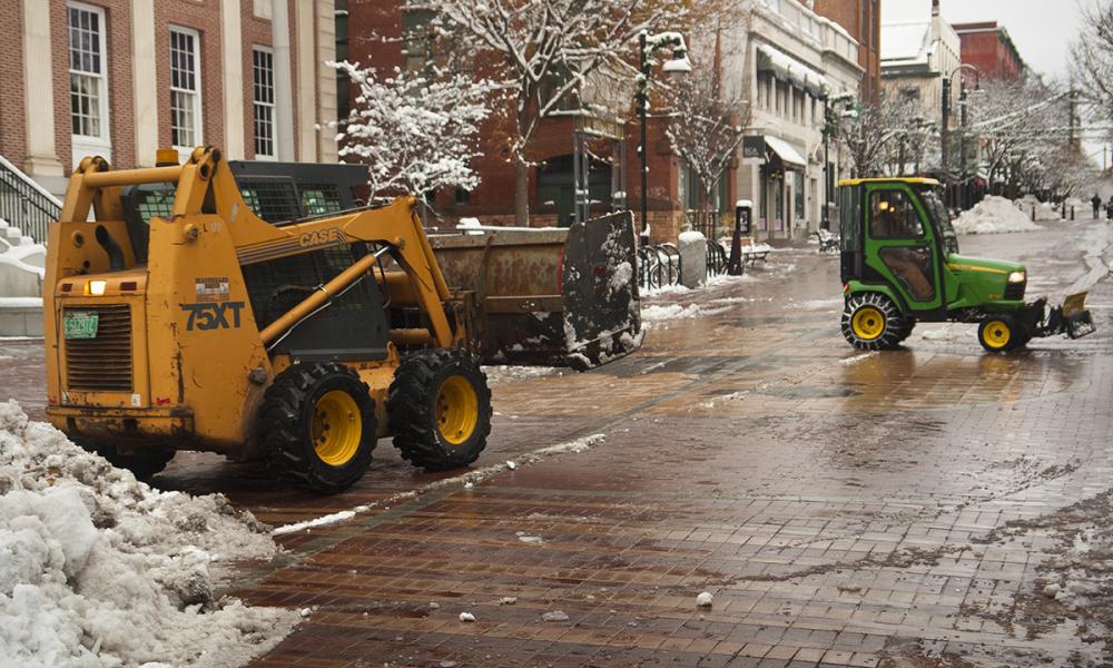 Snow removal in Burlington
